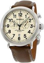Shinola Men's The Runwell 47mm Leather Band Steel Case Quartz Watch 20001115