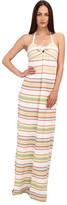M Missoni Ribbon Stripe Knit Maxi Dress