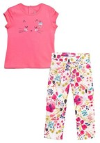 Catimini Pink Tee and Floral Trouser Set