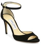 Jimmy Choo Annie 85 Suede d'Orsay Ankle-Strap Sandals
