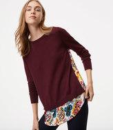 LOFT Bouquet Mixed Media Sweater