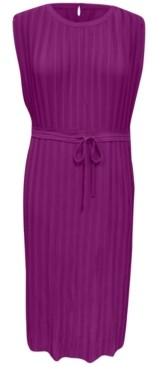 Alfani Pleated Tie-Waist Midi Dress, Created for Macy's