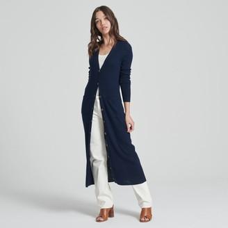 Naadam Summer Silk Duster Cardigan Navy