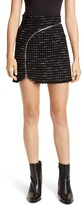 Alexander Wang Zipper Detail Tweed Miniskirt