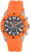 Swiss Military Calibre Men's 06-4M2-04-007.79 Marine Chronograph Textured Dial Orange Rubber Watch