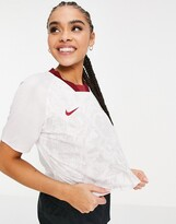 Thumbnail for your product : Nike Football Crop Top in red