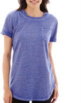 JCPenney Silverwear Short-Sleeve French Terry Hooded Pullover - Petite