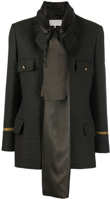 Maison Margiela Scarf-Embellished Single-Breasted Blazer