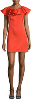 Zac Posen Dottie Ruffle Overlay Shift Dress