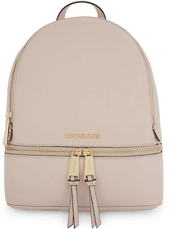 MICHAEL Michael Kors Rhea medium pebbled leather backpack