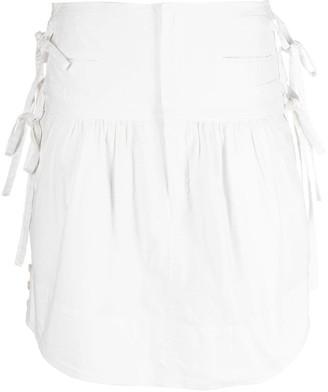Etoile Isabel Marant side-tie A-line mini skirt