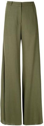 Adriana Degreas Side Pockets Wide Leg Trousers