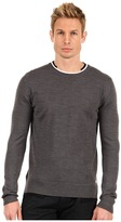 Balmain Pierre Mixed Wool Round Neck Long Sleeve Sweater (Multicolor) - Apparel