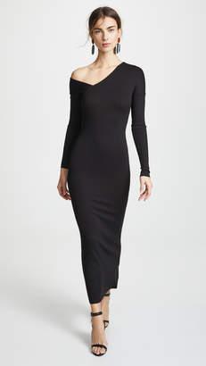 The Range Tilted Alloy Rib Midi Dress