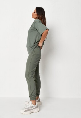 Missguided Green T Shirt And Joggers Co Ord Set