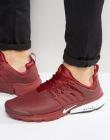 Nike Air Presto Utility Trainers In Red 862749-600
