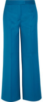 Tod's Cropped Wool-twill Wide-leg Pants - Blue