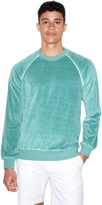 American Apparel Men's Stretch Velour Long Sleeve Raglan Crewneck