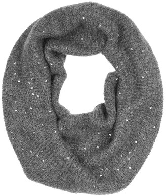 Eileen Fisher Grey embellished mohair-blend snood