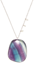 Meira T 14K White Gold, Fluorite & Seed Pearl Pendant Necklace