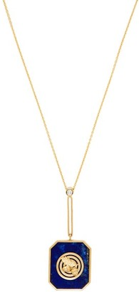 Retrouvai - Lucky 14kt Gold, Diamond And Lapis Necklace - Blue