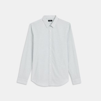 Theory Irving Shirt in Grid Cotton
