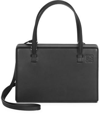 Loewe Leather Top Handle Box Bag