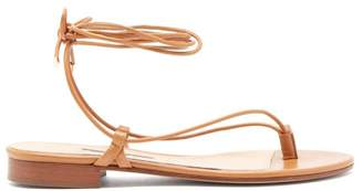 Emme Parsons Ava Wrap-around Leather Sandals - Womens - Tan