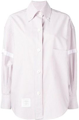 Thom Browne University-Stripe Long-Sleeve Shirt