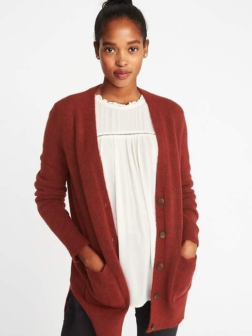 Old Navy Plush Sweater-Knit Boyfriend Cardi for Women