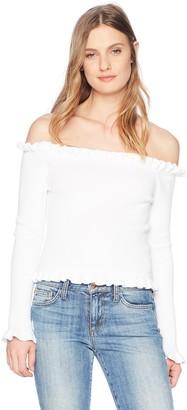 Parker Women's Gyladyce Off The Shoulder Long Sleeve Sweater