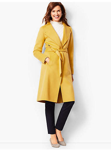 Talbots Double-Face Wool Belted Coat