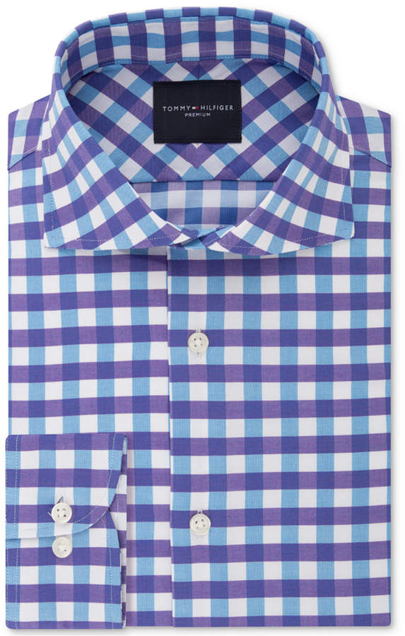 147f8ed9 Tommy Hilfiger Blue Check Men's Shirts - ShopStyle