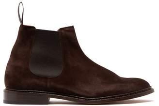Tricker's Roxbury Suede Chelsea Boots - Mens - Dark Brown