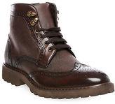 Steve Madden Morreau Wingtip Leather Boots