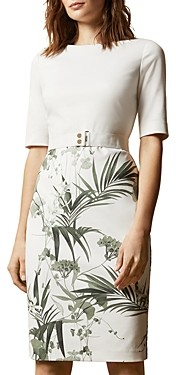 Ted Baker Tyyraa Highland Floral Print Sheath Dress