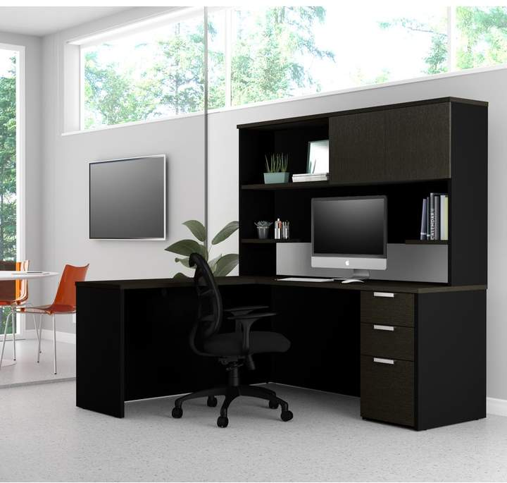comm office kadian modern reversible l shape corner desk with hutch rh shopstyle com