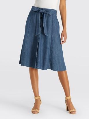 Draper James Button Front Chambray Skirt