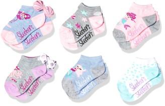 Skechers Kids Little Girls' 6 Pack Low Cut Socks
