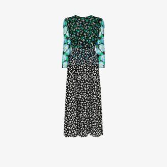 Rixo Jazz mixed floral print midi dress