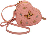 One Kings Lane Vintage Louis Vuitton Pink Heart Clutch - Vintage Lux - pink/gold