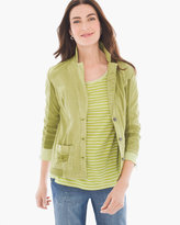 Chico's Rita Ribbed 3/4-Sleeve Blazer