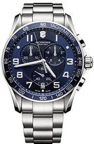 Victorinox 241652 Chrono Classic Chronograph Date Bracelet Strap Watch, Silver/blue