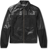 McQ by Alexander McQueen Viper Panelled Leather and Shell Blouson Jacket