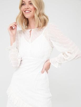 Very Asymmetric Midi Dress - White