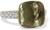 Pomellato Nudo 18-karat Rose And White Gold, Prasiolite And Diamond Ring - Rose gold