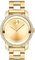 Movado Bold Diamond-Bezel Analog Bracelet Watch