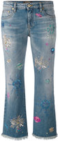 Roberto Cavalli light-wash cropped jeans
