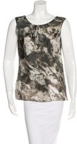 CNC Costume National Abstract Print Silk Top