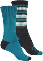 High Sierra Full-Cushion Striped Boot Socks - 2-Pack, Crew (For Women)